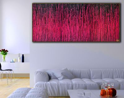 Carmin Spectra ( Florescent garden) 2 (2020) / Triptych