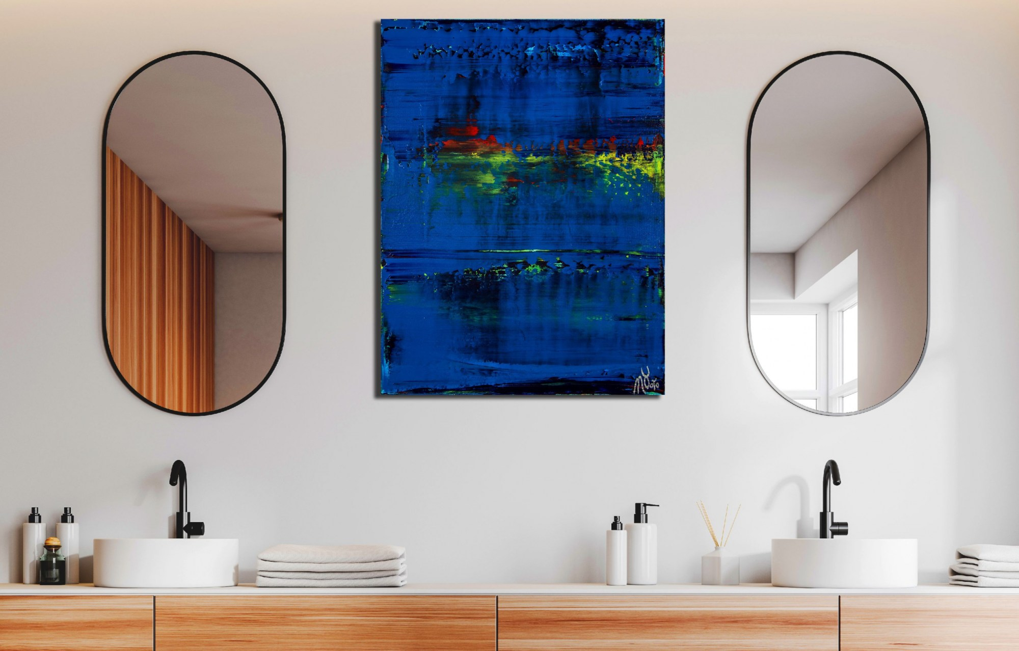 Room view example / St. Barts (Caribbean ocean coast) 2 (2020) by Nestor Toro