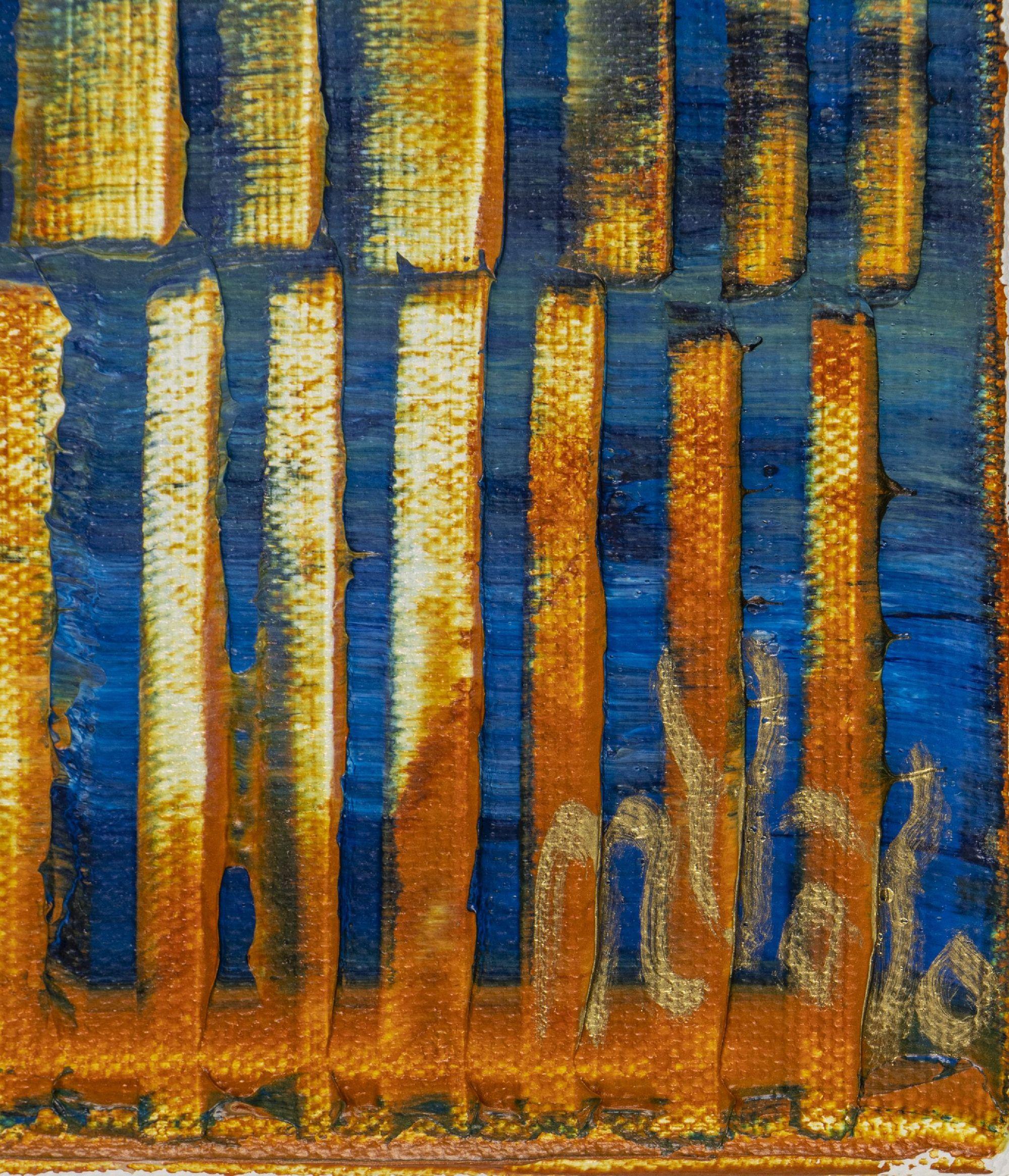 Signature - Orange Panorama (Blue Reflections) 2 (2020) by Nestor Toro