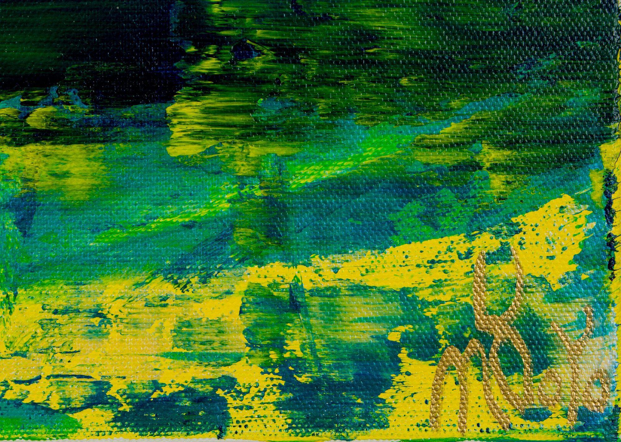 Signature close up / Mountain Terrain (Sunset - Sunrise) 2020 by Nestor Toro / SOLD