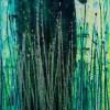 SOLD / Vernal Garden (With Green and Silver) (2021) Canvas 1 - Triptych / Artist - Nestor Toro