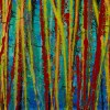 Natures Imagery (Scattering Colors) 1 (2021) / Triptych (Detail)