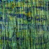 Green forest (Silver lights intrusions) (2021) 34 x 69 inches by Nestor Toro