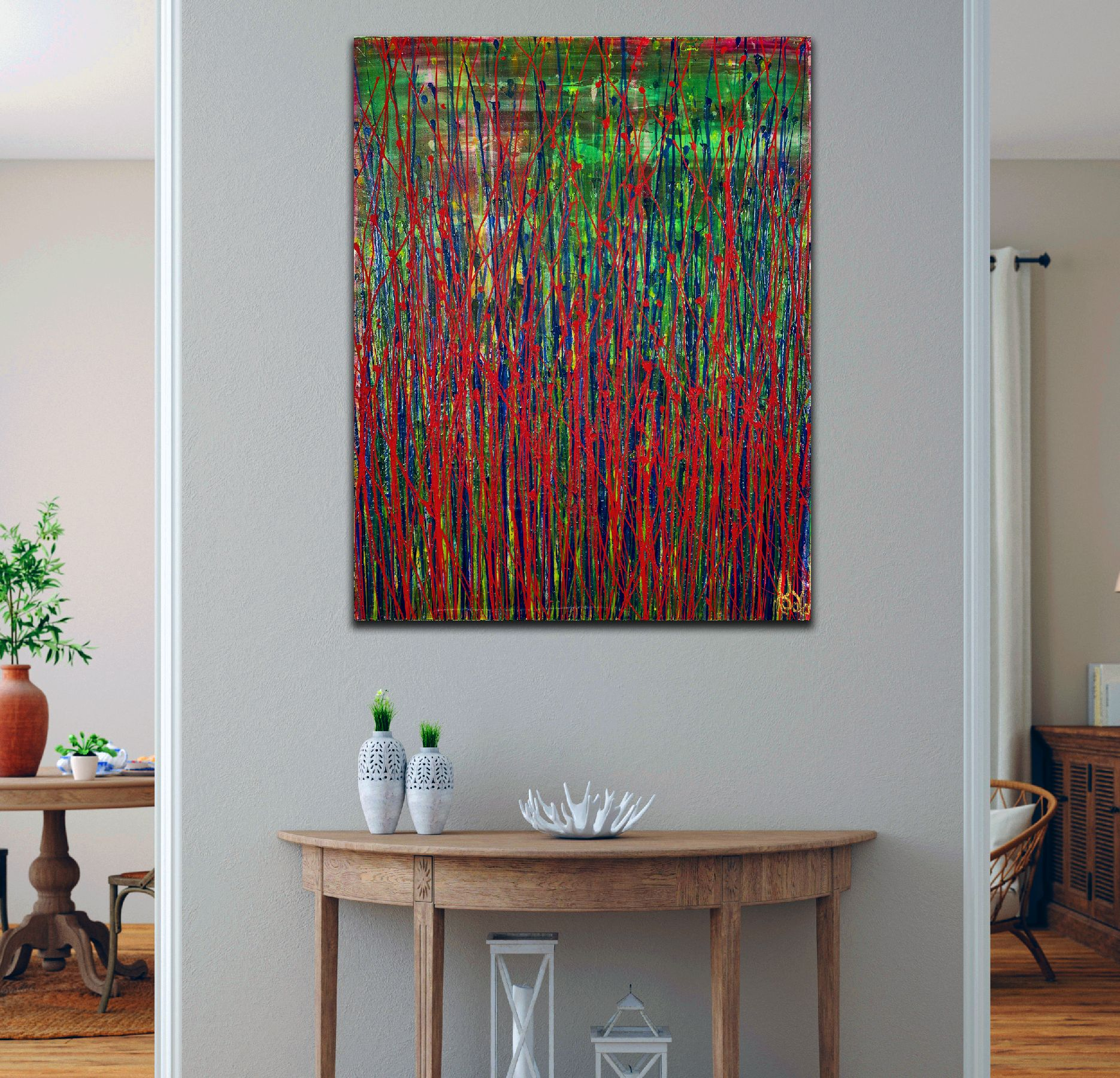 Room example - Like Nothing Else (Experimental Garden) (2021) 22x18 inches by Nestor Toro