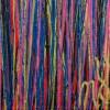 Signature / Garden Rhythm (Over Red) 3 (2021) 36x36 inches by Nestor Toro