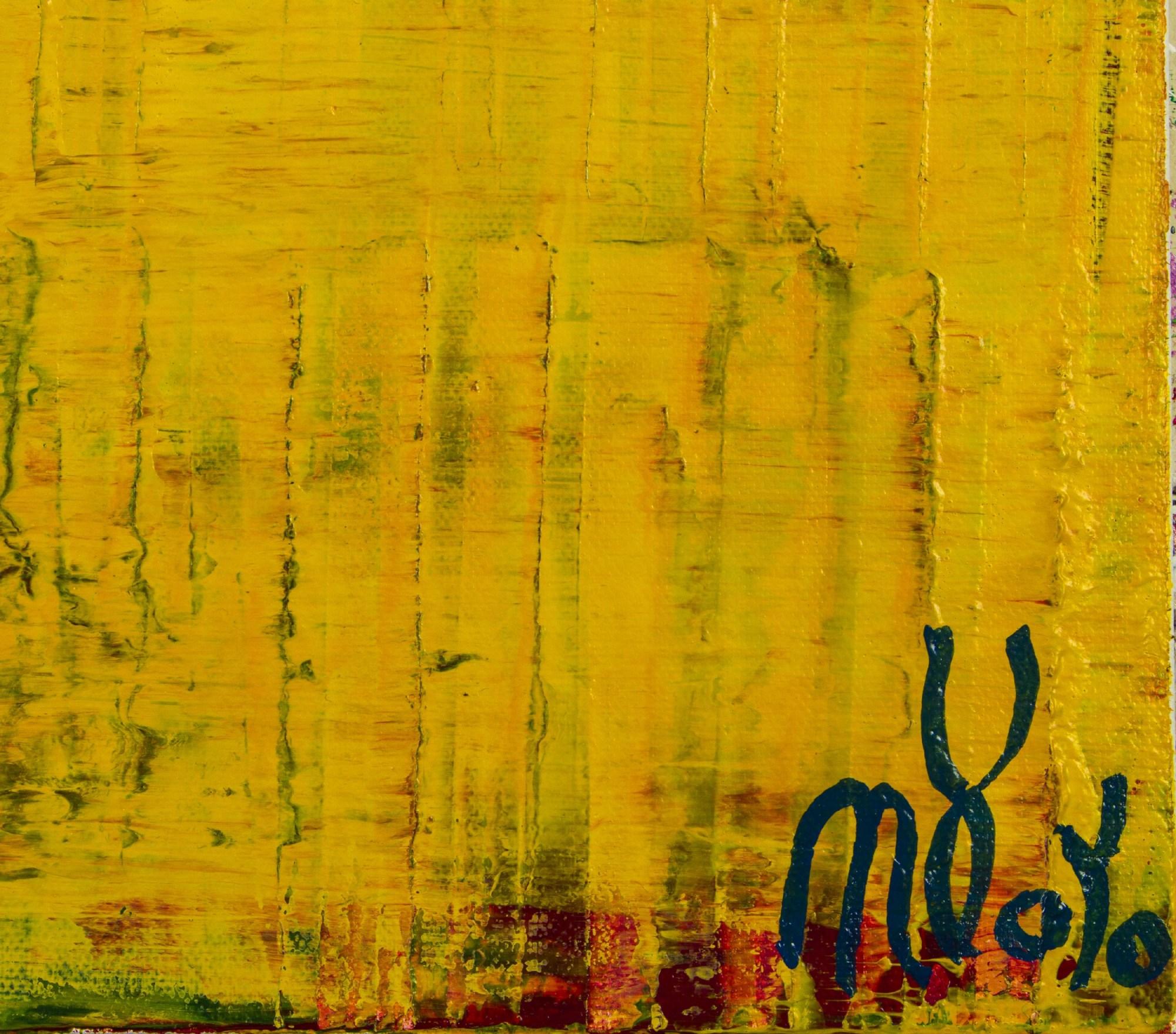 Signature / Yellow Reunion (Lost Lights) (2021) - 24x36 inches /Artist Nestor Toro