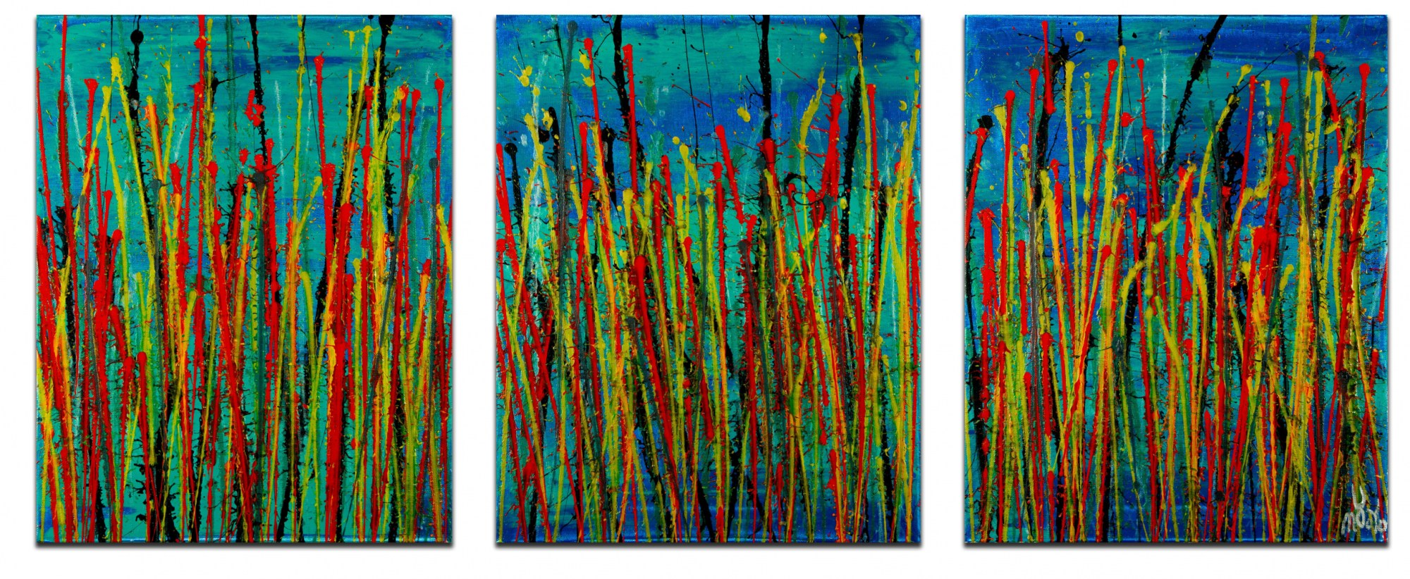 Natures Imagery (Scattering Colors) 1 (2021) / Triptych
