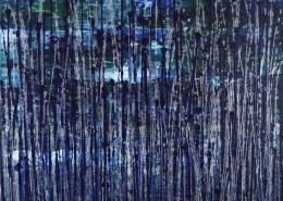 SOLD / Nighttime Fearlessness 5 (2021) 24x30 in / Artist: Nestor Toro
