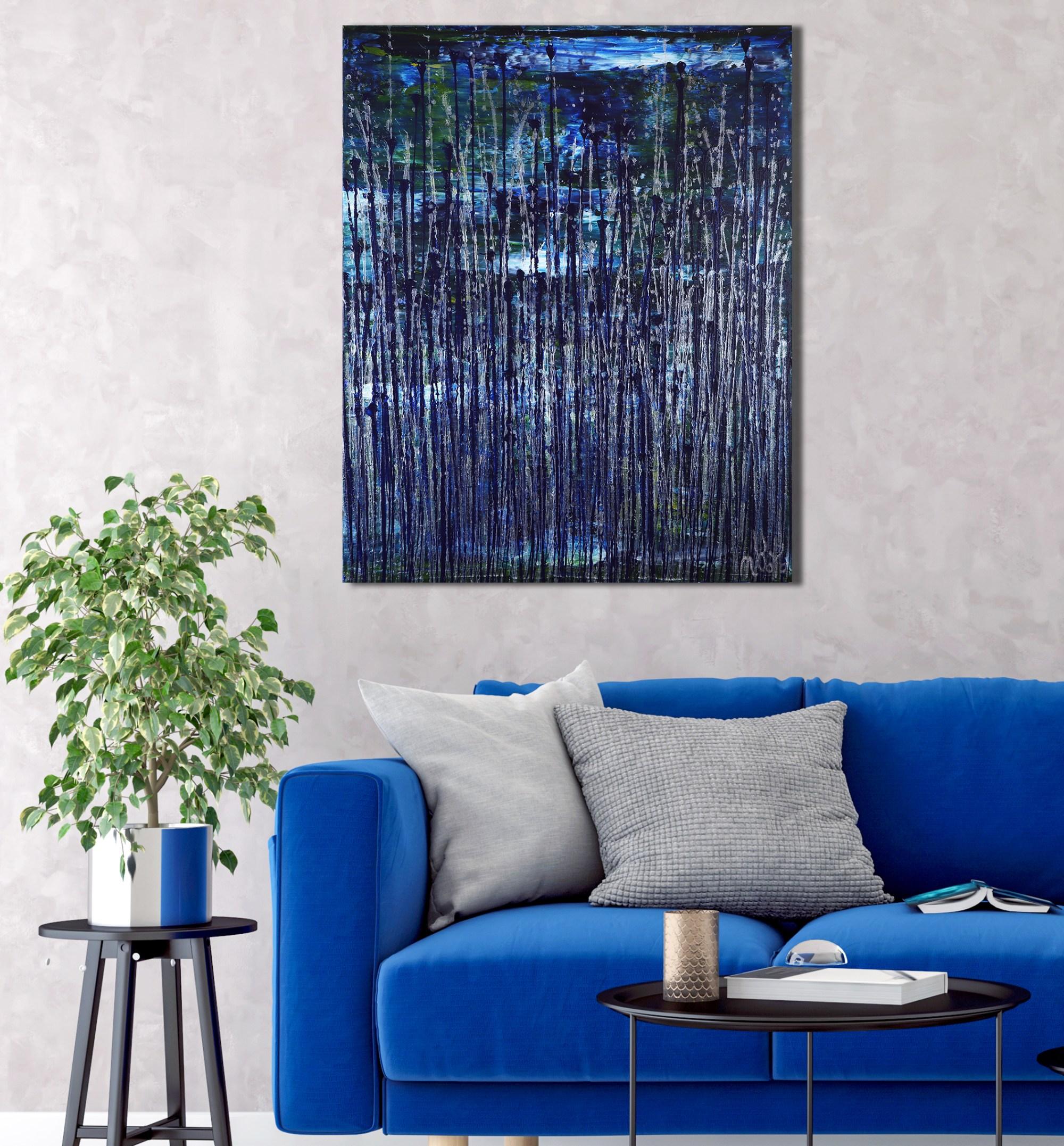 Room example / Nighttime Fearlessness 5 (2021) 24x30 in / Artist: Nestor Toro
