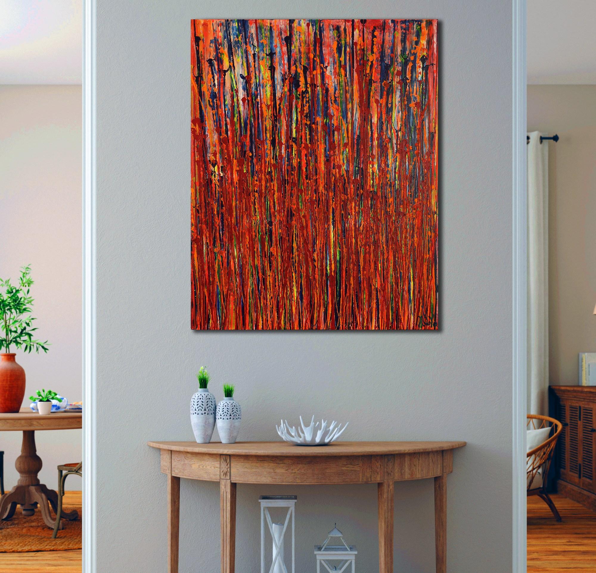 Room example / Panorama Astratto 1 (2021) 24X30 Inches / Artist: Nestor Toro