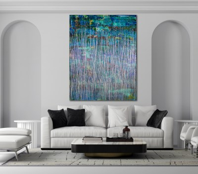 Celeste Spectra (Amethysts Reflections) 2 (2021) / 48 x 60 in / Artist: Nestor Toro