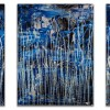 Signature / Supermoon (Silver drizzles) (2021) / Triptych / Nestor Toro
