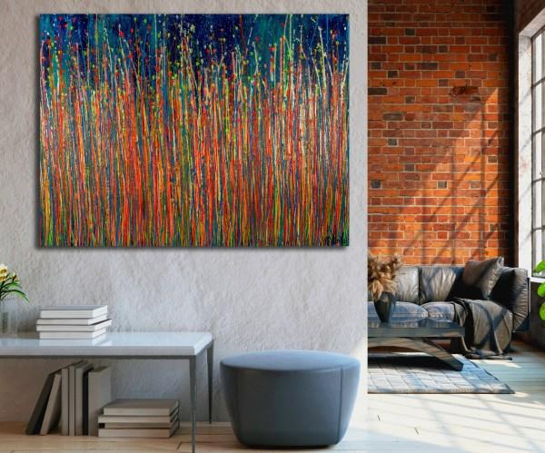 Daydream Panorama (Natures Imagery) 33 (2021) / Room example / Artist: Nestor Toro - Los Angeles