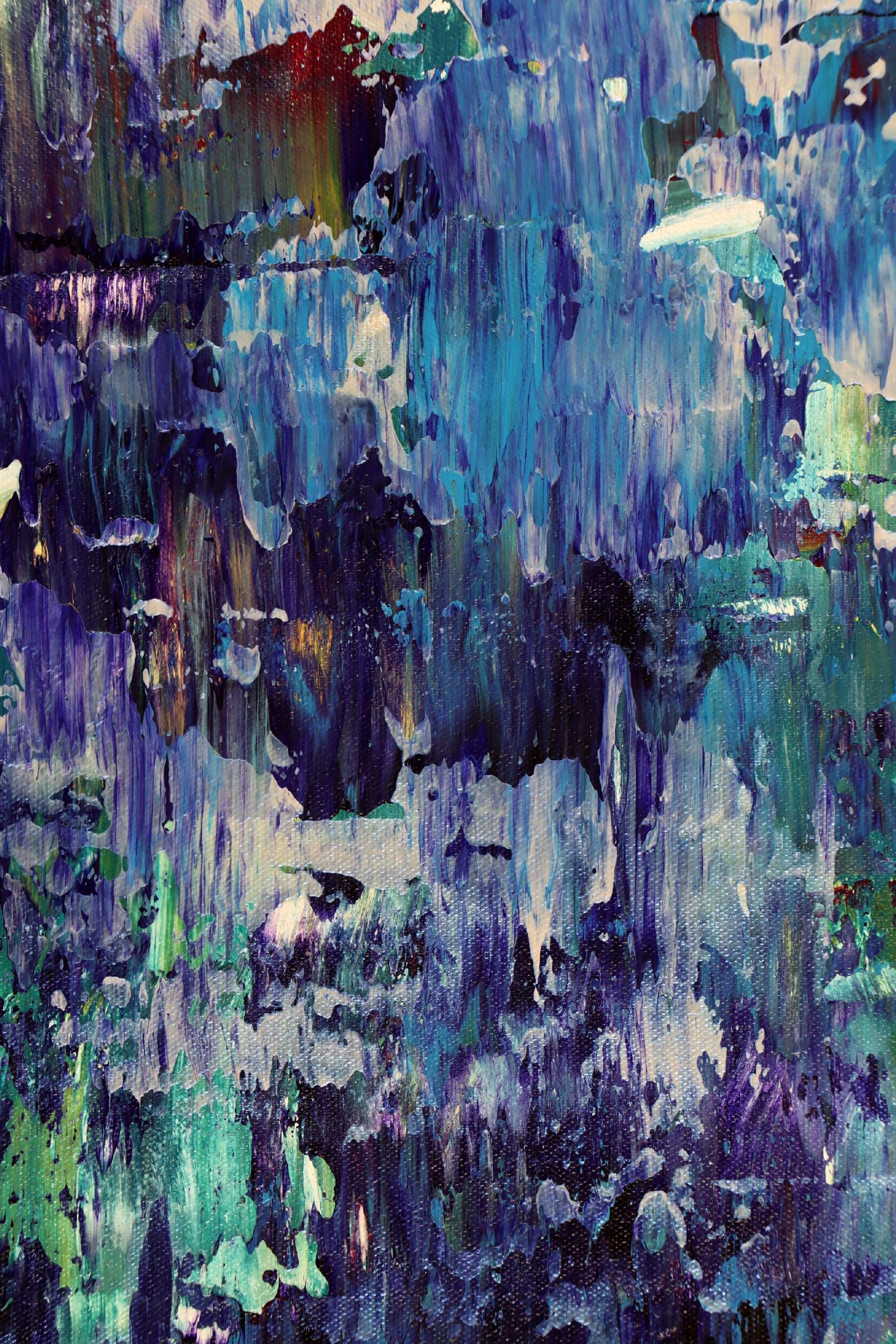 SOLD - Detail / Iridescent Midnight Blue (2021) by Nestor Toro - Los Angeles