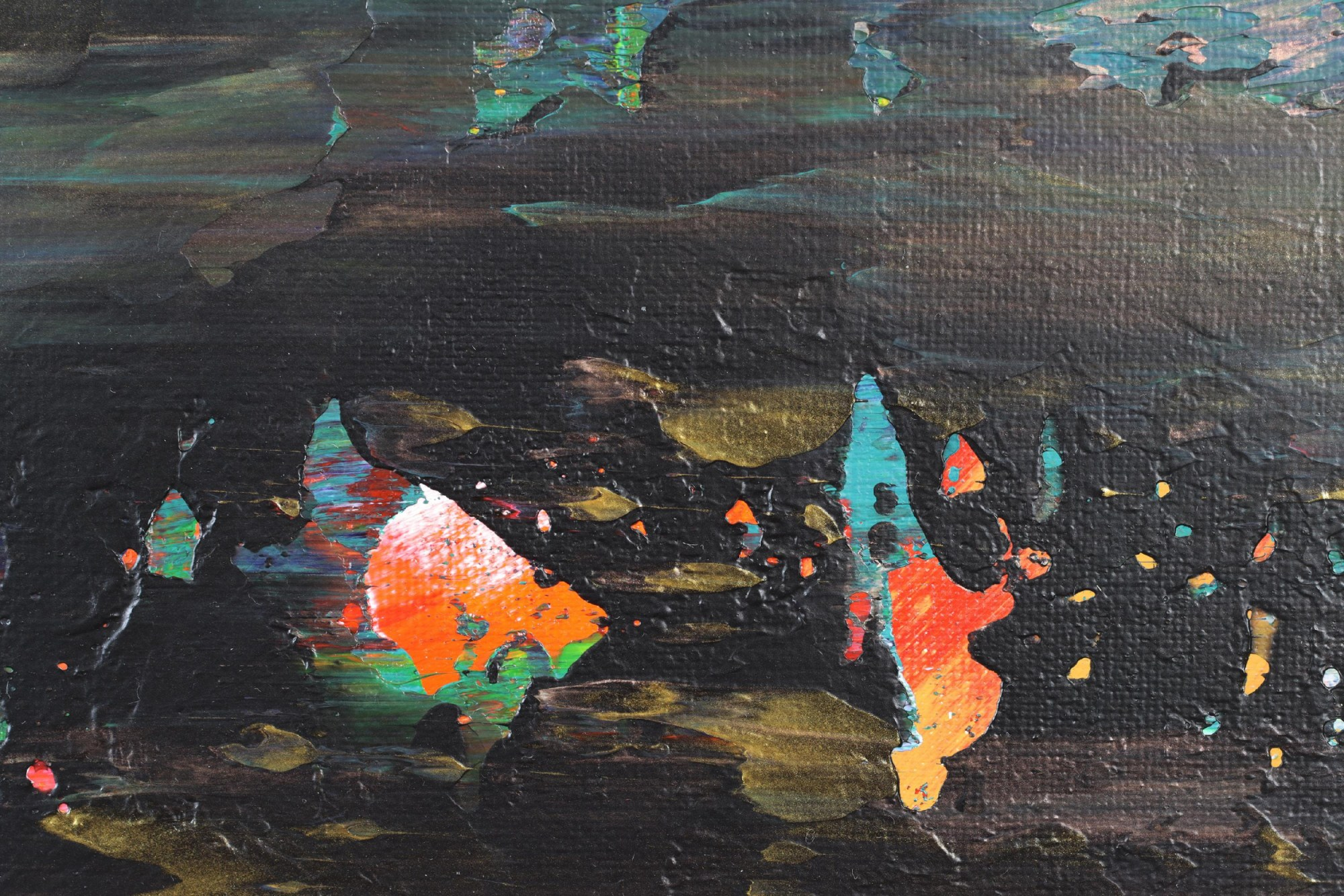 Detail / Nocturn Panorama 7 (2021) 18x24 inches / Los Angeles
