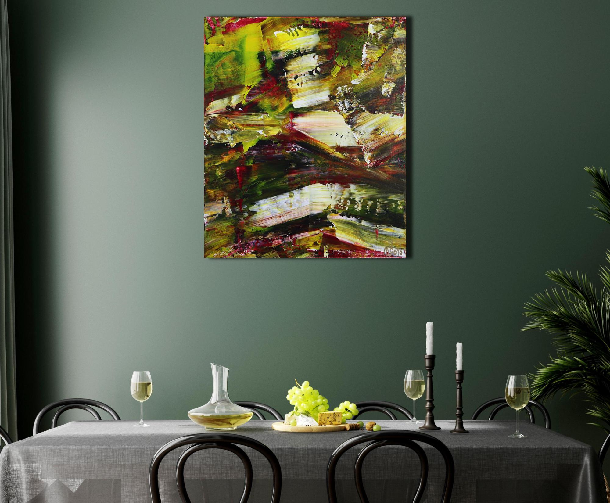 Room example / Moss and Rust (2021) 20x24 in / Artist: Nestor Toro