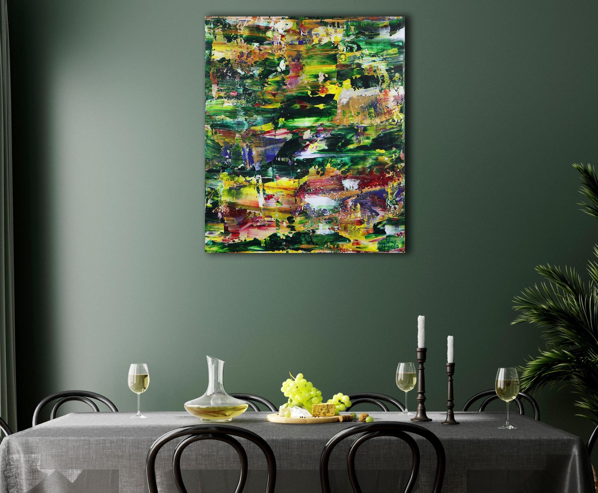 Room example / Moss and Rust 2 (2021) 20x24 in / Artist: Nestor Toro