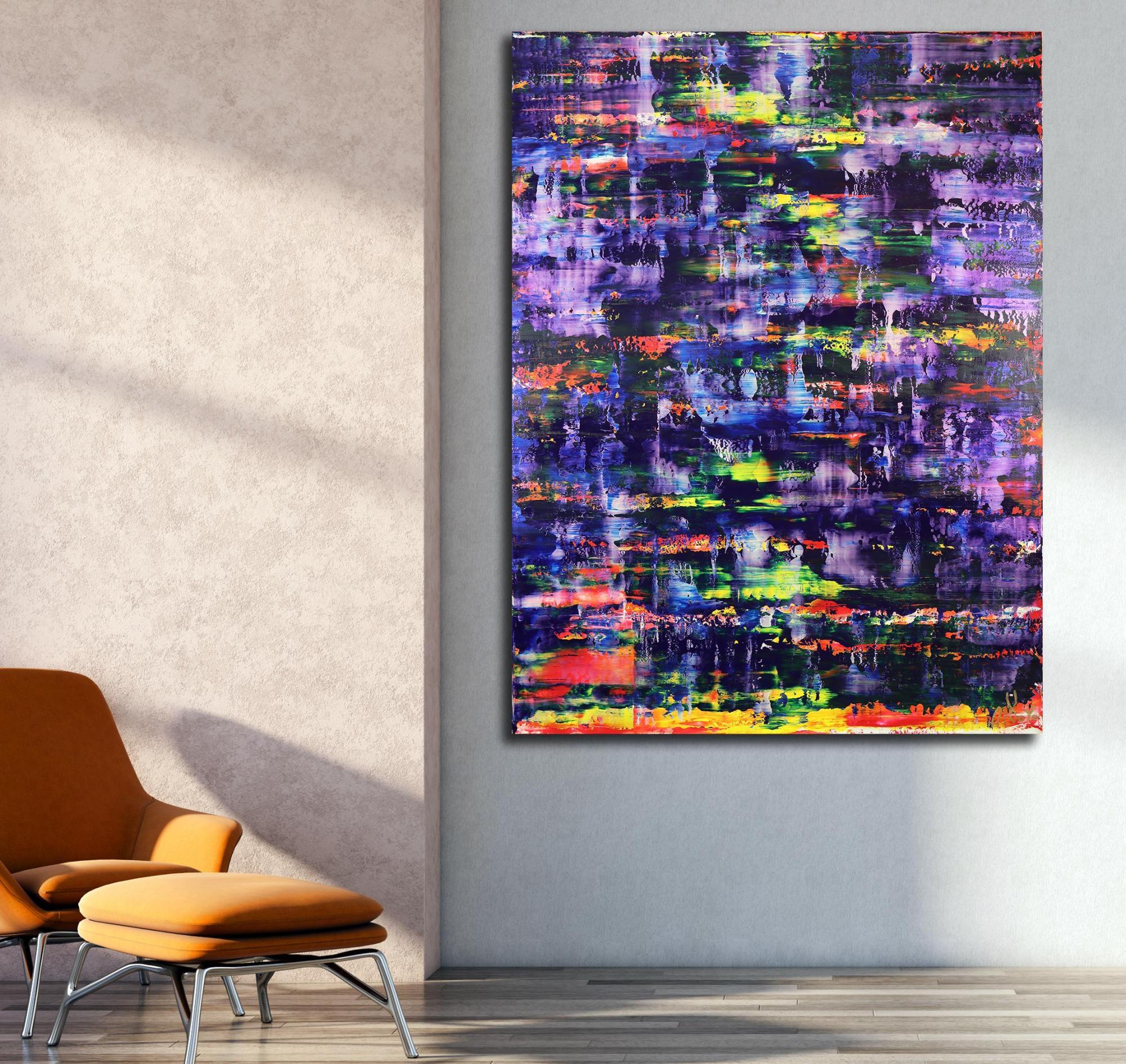 Blue Shade Panorama (Purple Radiance) (2021) / Room example / Artist: Nestor Toro