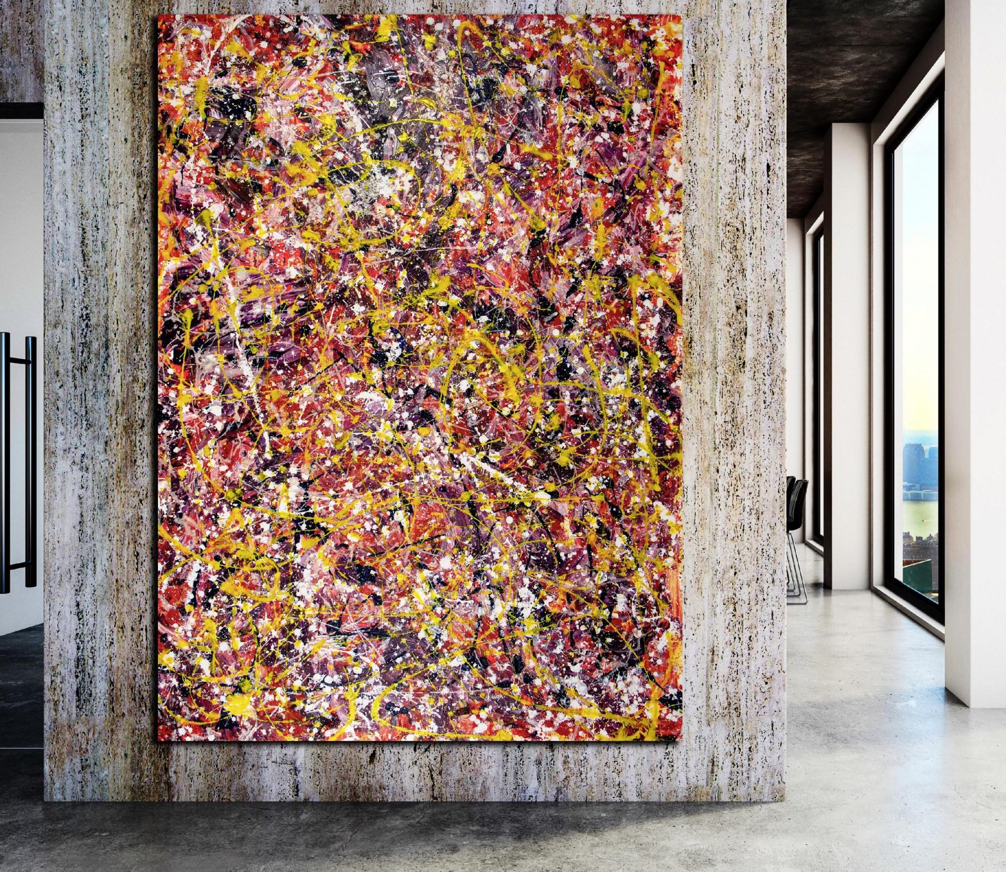 SOLD - Room example - Autumn Carousel (Autumnal Equinox) 2021 by Nestor Toro