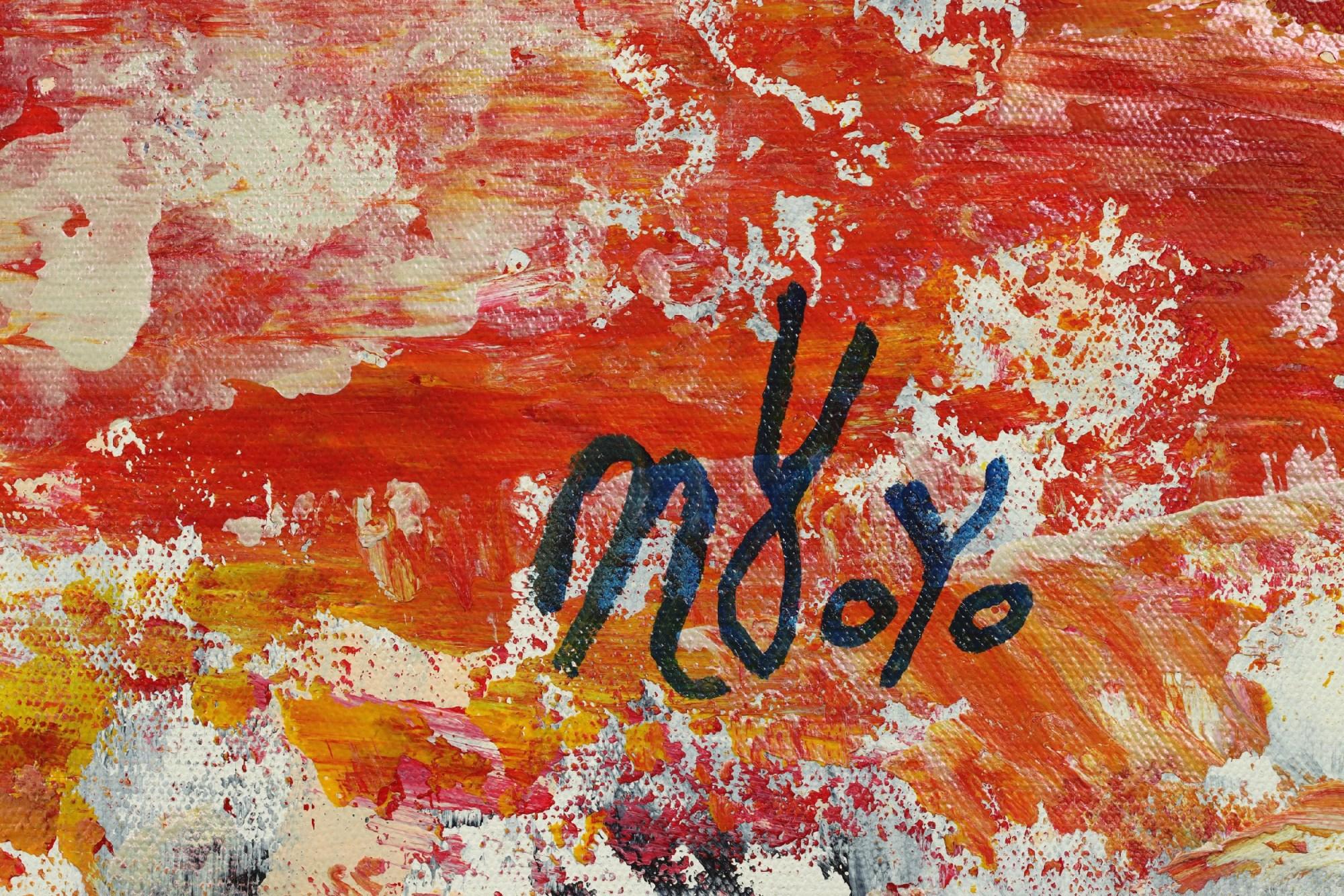 Signature / Side View / Somewhere in Between (Orange refractions) (2021) / Artist: Nestor Toro