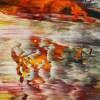 SOLD - Summer Harvest Panorama (2021) / Detail / 24x30 / Artist: Nestor Toro