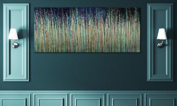 Drizzles Symphony 4 /(2021) / Triptych / Artist: Nestor Toro