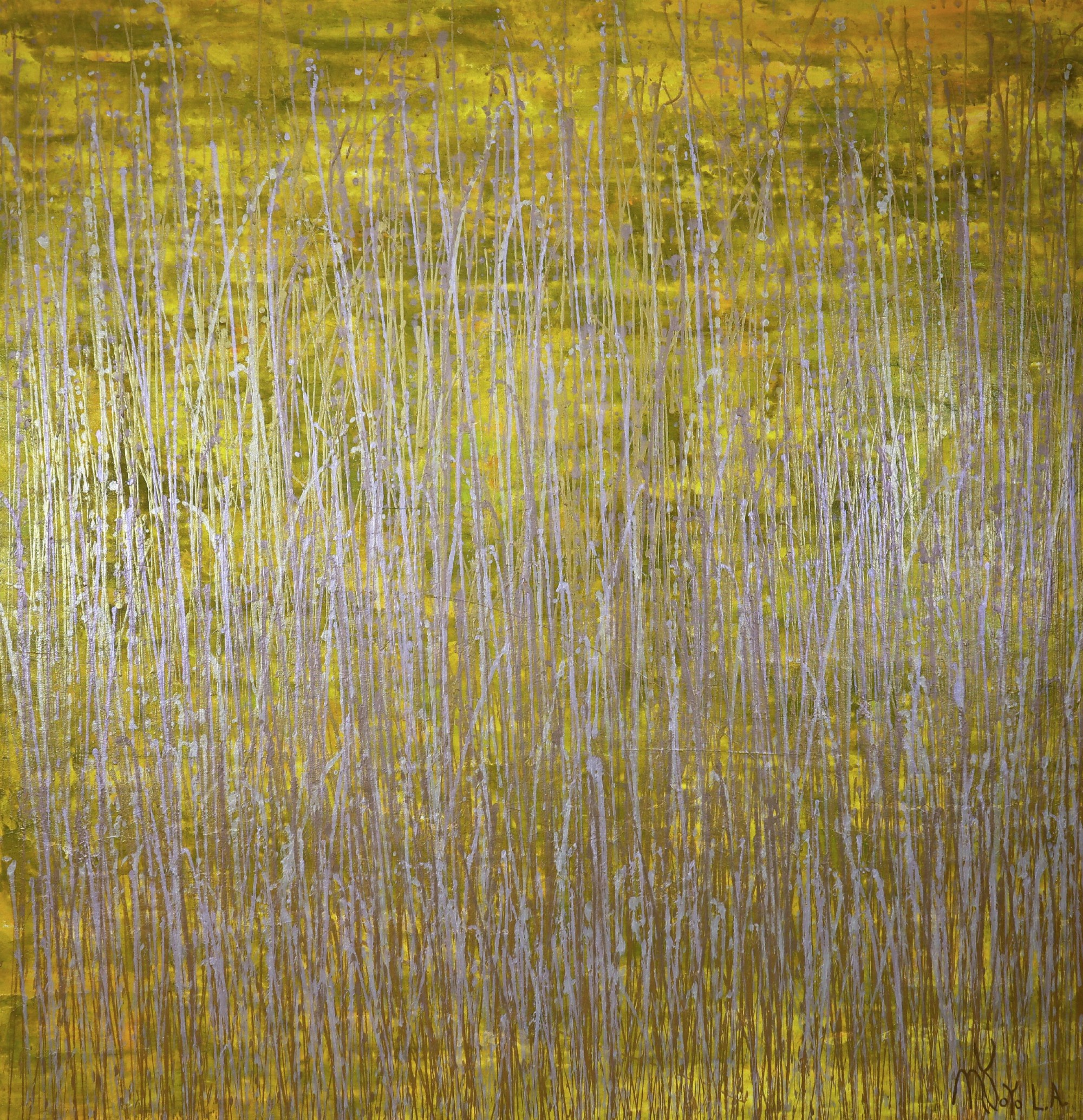 Full Canvas View / Somewhere in Between (Yellow and Gold) (2021) / Artist: Nestor Toro