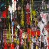 DETAIL / Reflection of colors 2 (2021) / 36 x 36 inches / Nestor Toro