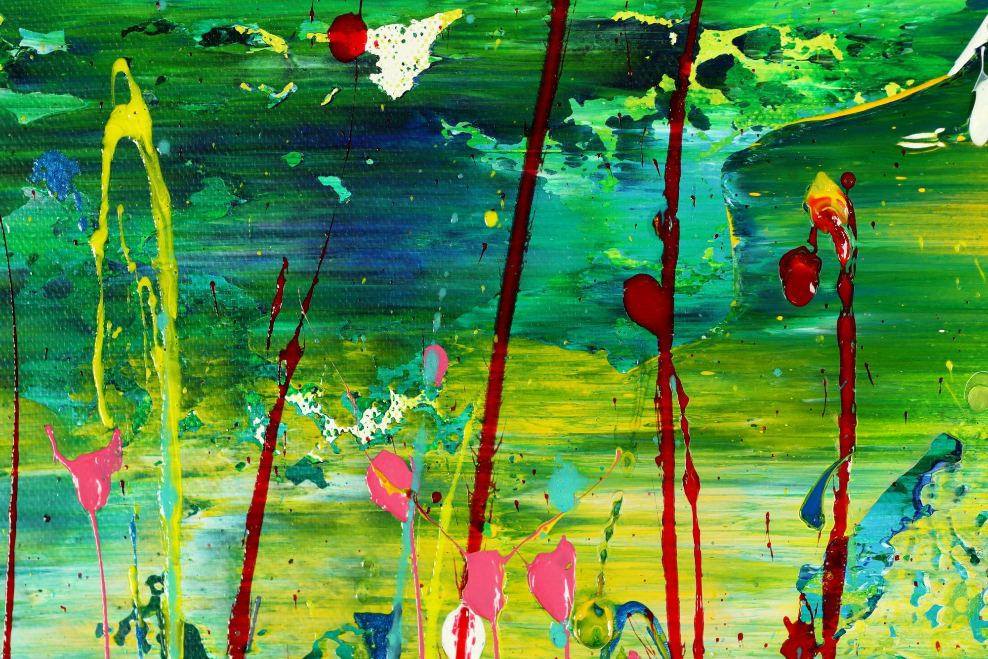 DETAIL / Caribbean Reflections 2 (2021) / 24 x 30 inches / Nestor Toro