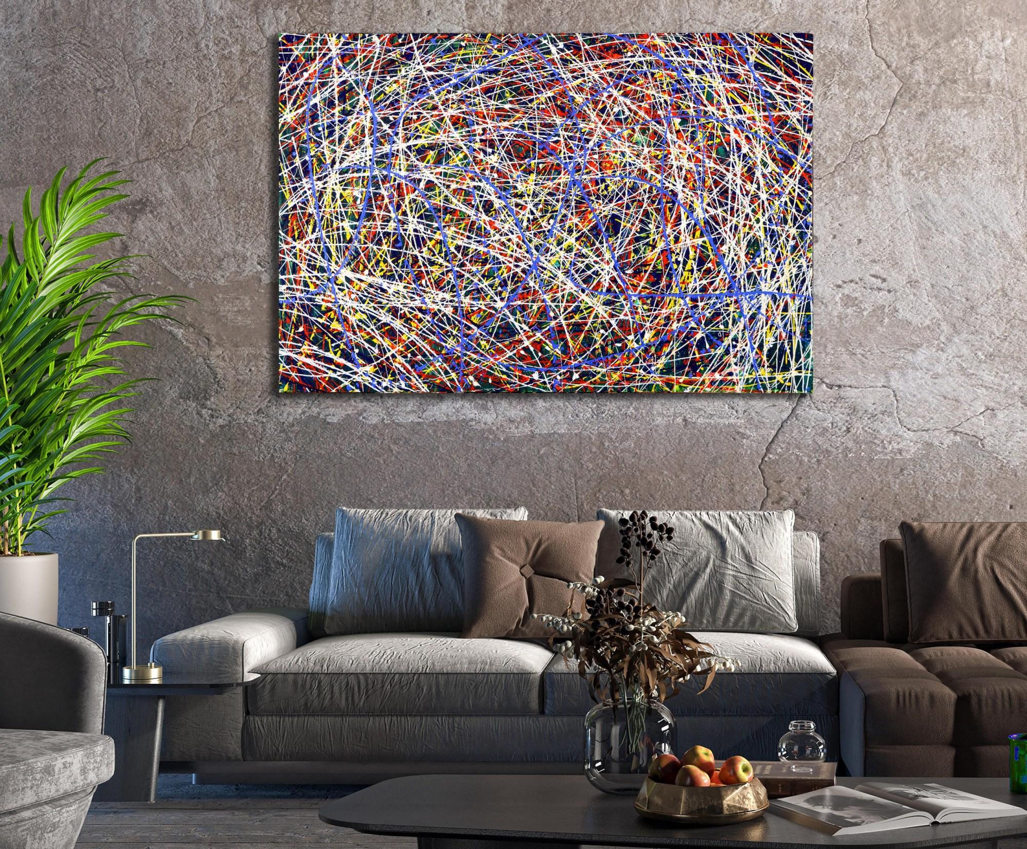 ROOM EXAMPLE / In constant motion (City life) 4 (2021) / Artist: Nestor Toro