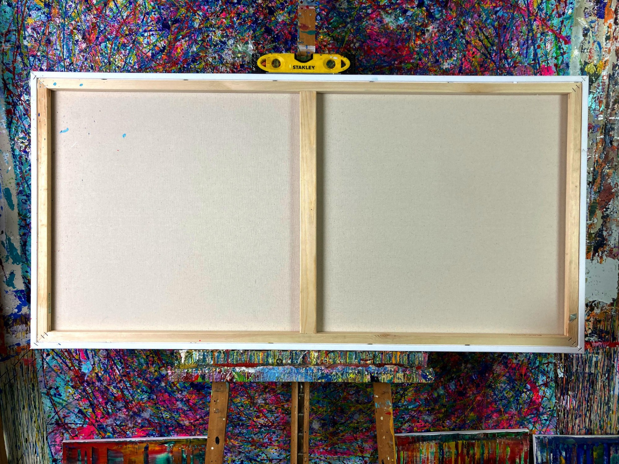 BACK VIEW / Autumn Motion (2021) - Ready to Hang - 48x24 inches