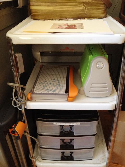 Kitchen cart craft storage