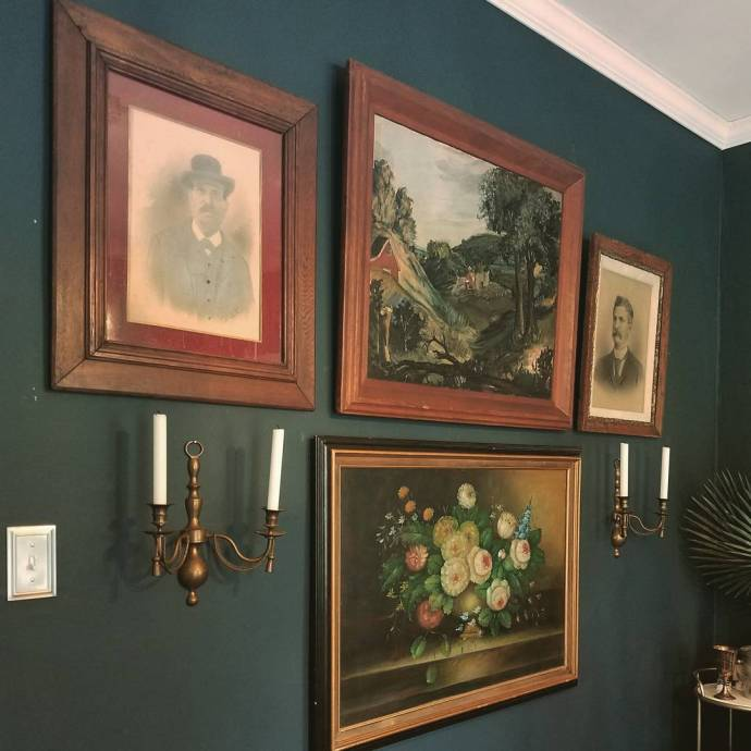 Progress on the dining room gallery wall Vintage amp antiquehellip