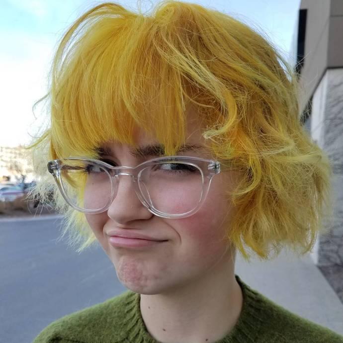 Sassy sassysassy so sassy yellowhairdontcare gooddyeyoung mygirl