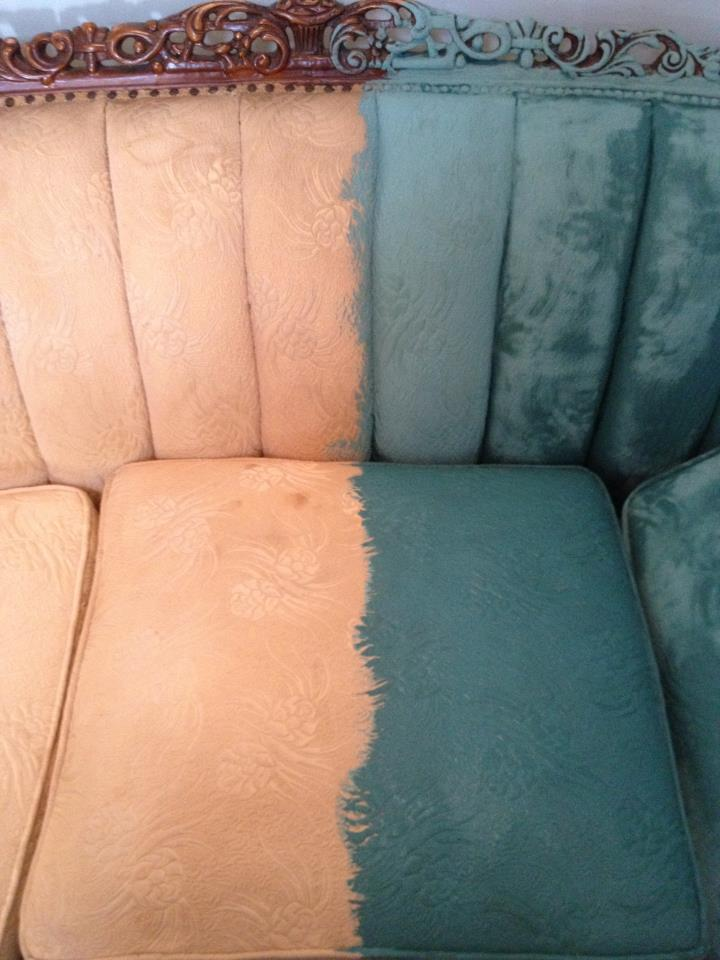 That time I painted a Victorian sofawith PAINT  Nest