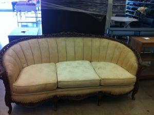 victorian sofa before