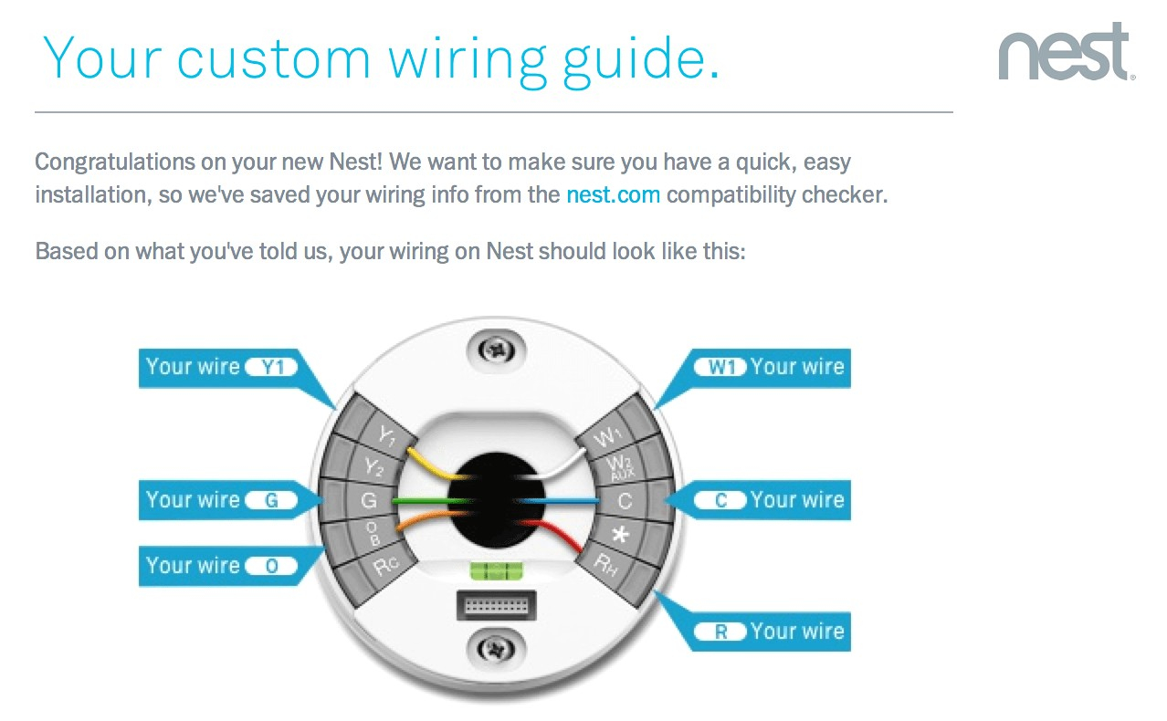 Wiring Diagram For Nest Thermostat With Heat Pump