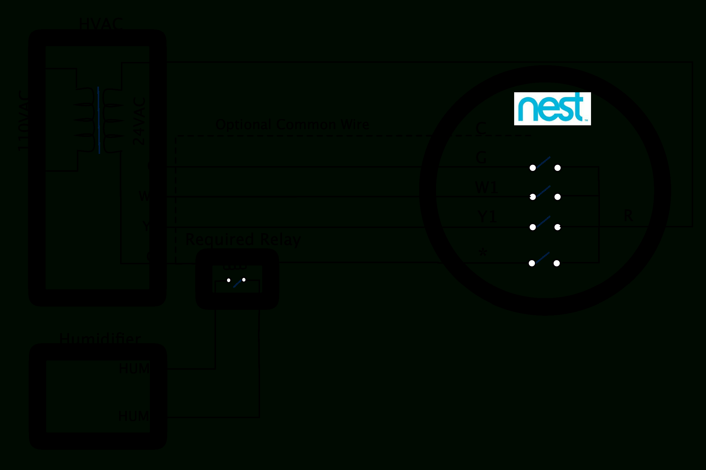 Nest Thermostat Wiring Diagram For Heat Only