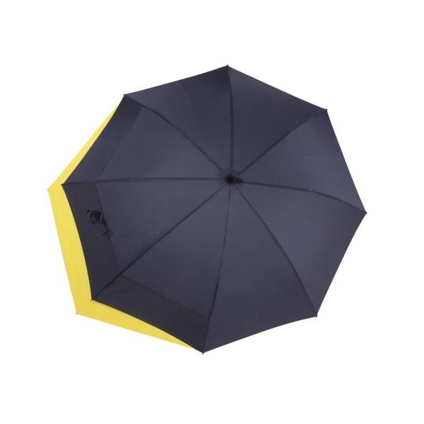 Unisex skėtis Doppler Fiber Move, mėlyna ir geltona, išskleistas
