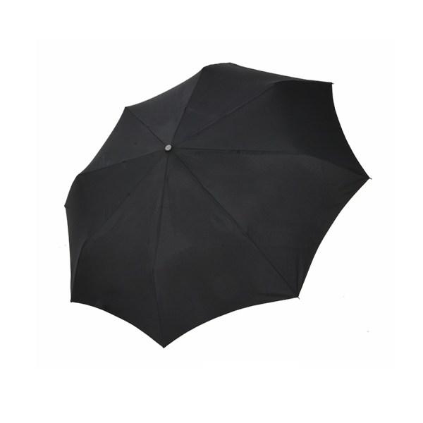 Vyriškas skėtis Doppler Fiber Magic Premium XM, juoda, išskleistas