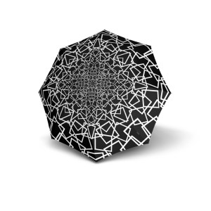 Moteriškas skėtis Knirps T200 Duomatic NUNO design Ice išskleistas