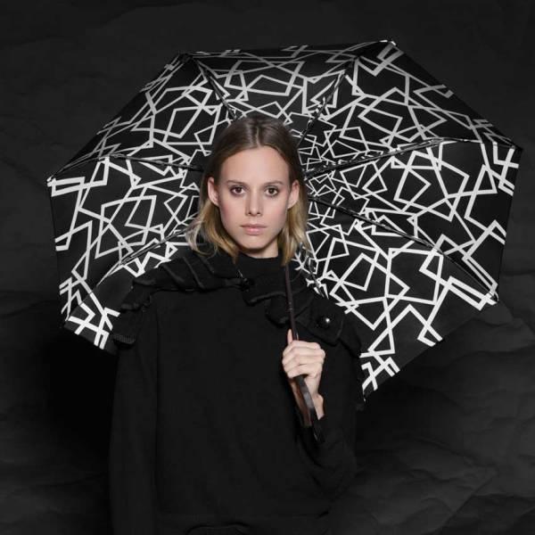 Moteriškas skėtis Knirps T200 Duomatic NUNO design Ice modelis