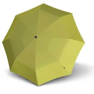 Moteriškas skėtis Knirps X1, citrininė, mechaninis, su įdėklu, iškleistas
