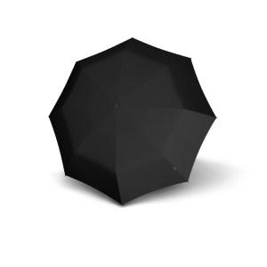 Unisex skėtis, Knirps T900 Extra Long Automatic, juoda, išskleistas