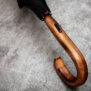 Unisex skėtis, Knirps S770 Long Automatic, juodas, rankena