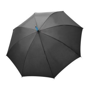 Unisex skėtis Doppler Fiber Party, su mėlynais stipinais, išskleistas