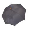 Vyriškas rankų darbo skėtis Doppler Manufaktur Hasel Orion atidarytas