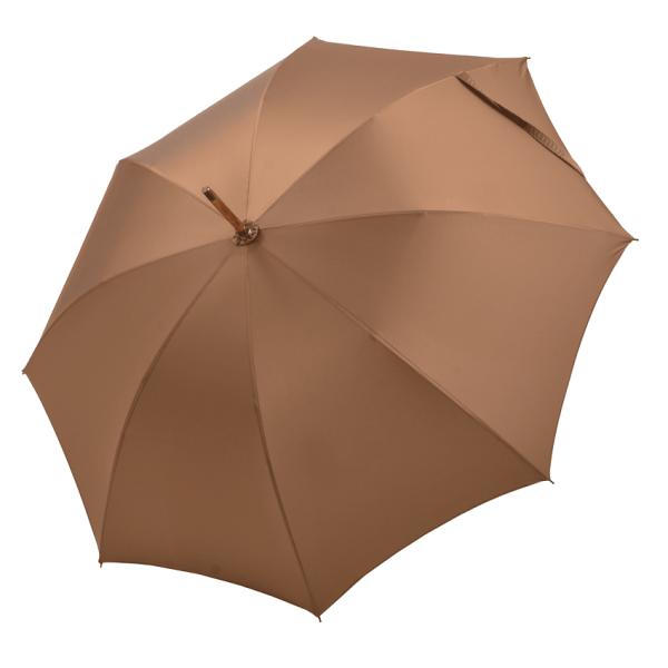 Vyriškas rankų darbo skėtis Doppler Manufaktur Ash Wood Oxford atidarytas