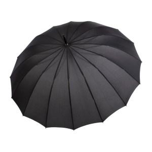 Unisex skėtis Doppler Natural Liverpool juodas atidarytas