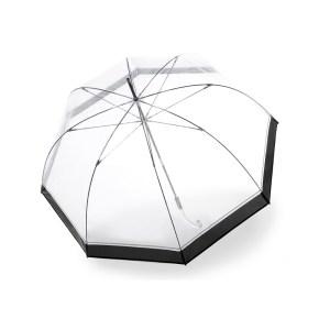 Moteriškas skėtis Knirps Transparent Hyperion permatomo skėčio kupolas